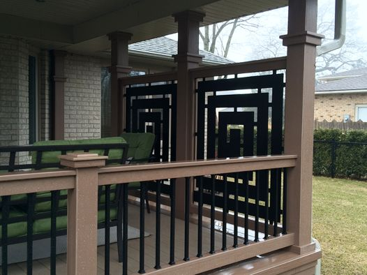 209 best images about decks on pinterest for Deck dividers for privacy