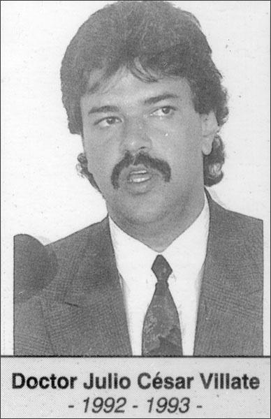 Doctor Julio César Villate 1992-1993