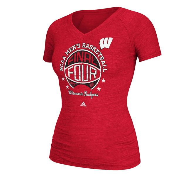 Wisconsin Badgers Juniors 2015 NCAA Men's Basketball Tournament Final Four Bound T-Shirt - Red - $22.99