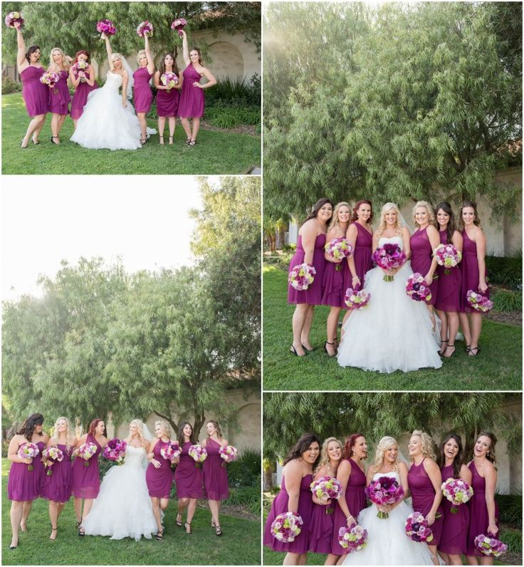 Courtney and Jeff Married! - Brooke Bakken Photography  Sangria BridesMaid Dresses!