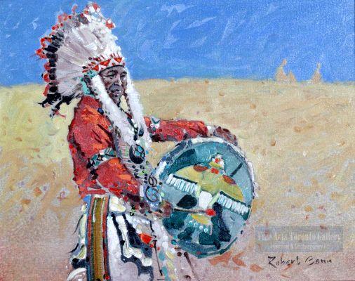 "Robert Genn - The Green Drum (1971).  Oil on canvas board (16.0"" x 20.0"")"