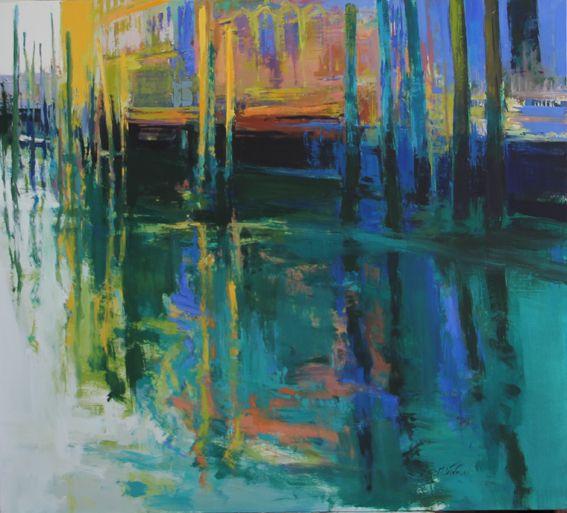 """Palli""Venecia. 122x110 cm.M.Teresa Martin-Vivaldi"
