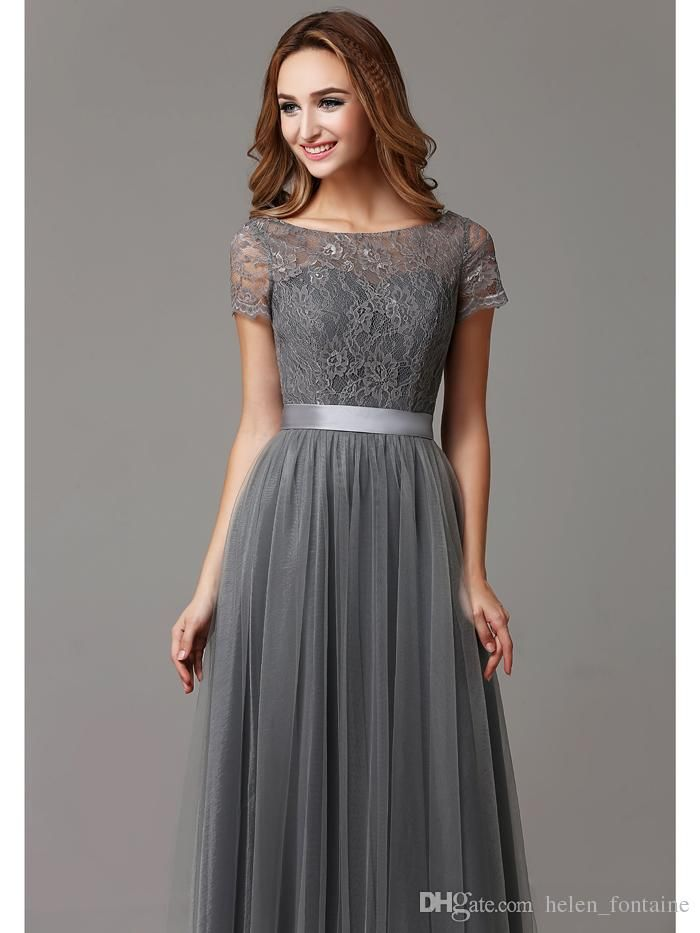 I found some amazing stuff, open it to learn more! Don't wait:https://m.dhgate.com/product/glamorous-grey-a-line-lace-tulle-bridesmaid/375337710.html