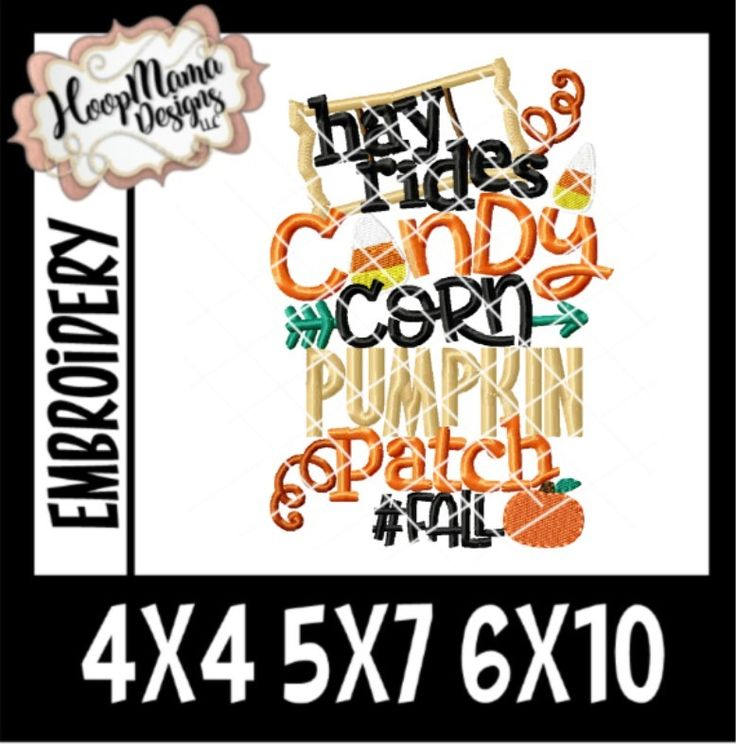 Hay Rides Candy Corn Pumpkin Patch Fall 4x4 5x7 6x10 New Release Through 8/15