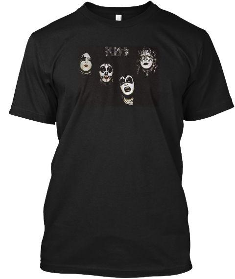 Kiss   1974 Kiss T Shirt Black T-Shirt Front