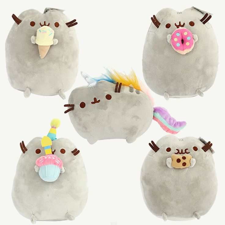 Online Buy Pusheen Cat Plush Set 5pcs !