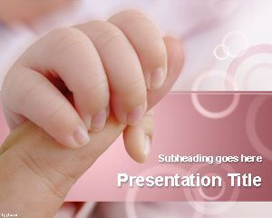 Bonding & Attachment PowerPoint Template for presentations during baby shower party celebrations | #baby #powerpoint #background