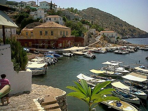 Kamini Fishing Village on Hydra (Ydra or Idra) Greece island