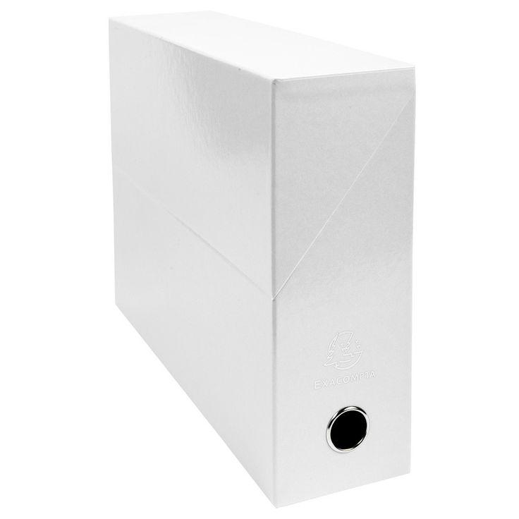 Boîte à archives Exacompta Iderama Boite de transfert pelliculée dos 90 mm Blanc Boîte de transfert 33 x 25 cm avec dos 9 cm pour documents A4