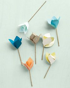 Tulips made from paper #decorations #paper #flowers: Wedding Decoration, Ideas, Diy Flowers, Stuff, Paper Flowers Diy, Paper Crafts, Diy Paper
