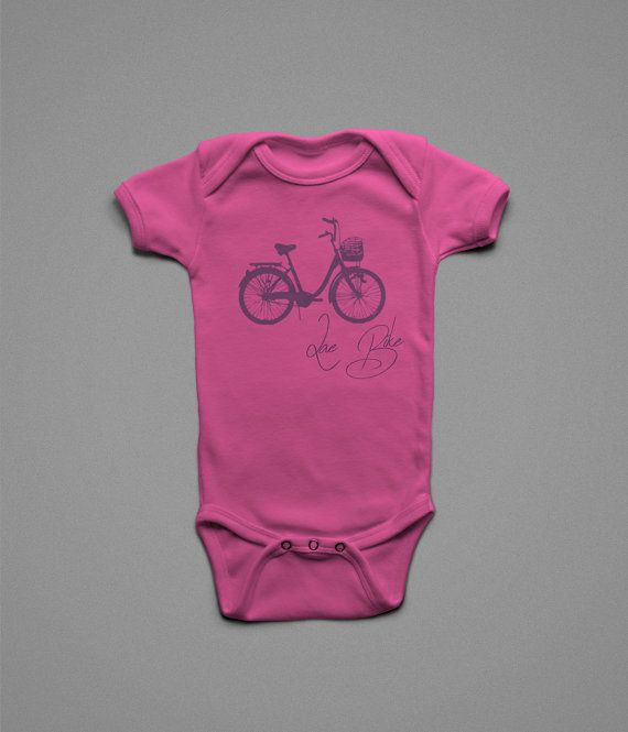 Bicycle Newborn Clothes Infant Clothing Cute Baby Clothes For Girls Custom Screen Prints by Geekstertees