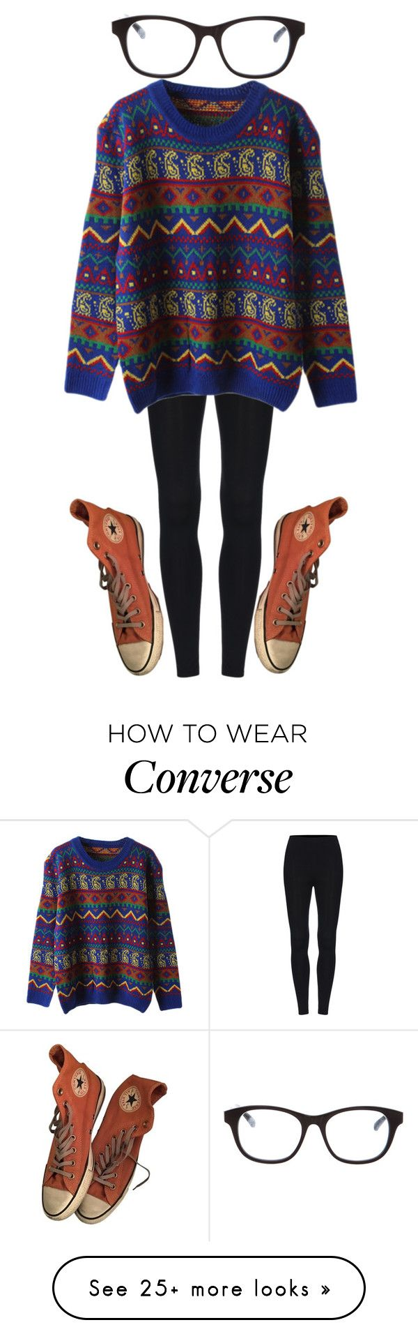 """hipster "" by sydthekyd01 on Polyvore featuring Converse and Linda Farrow"