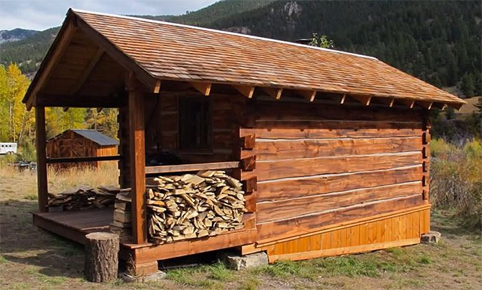 How to build a square log cabin cabin porn pinterest for Square log cabin