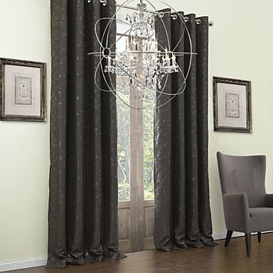 (Two Panels) Embossed Branches Classic Blackout Curtain – USD $ 59.99