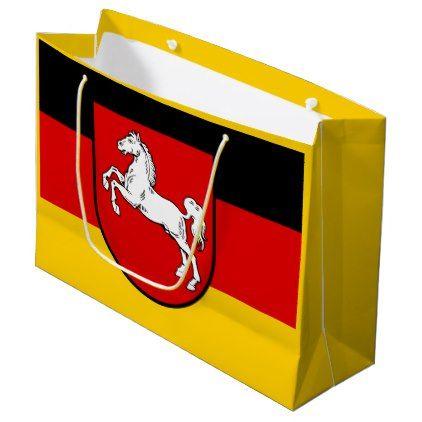 Flag of Lower Saxony Large Gift Bag - horse animal horses riding freedom