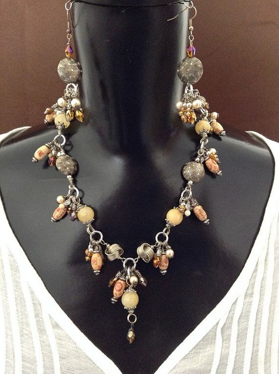 Bohemian Style Necklace and Earrings