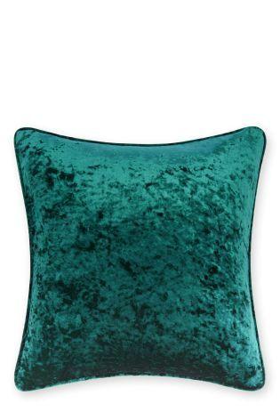 Dark Teal Crushed Velvet Cushion