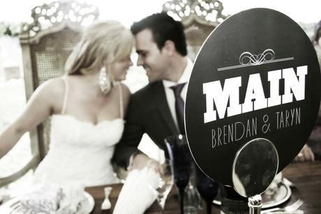 Brendan & Taryn's main table - Canvas Stationery Boutique
