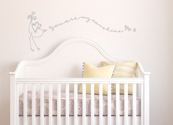 This beautiful decal is hand-drawn and designed, making it look as if it was painted on your wall!