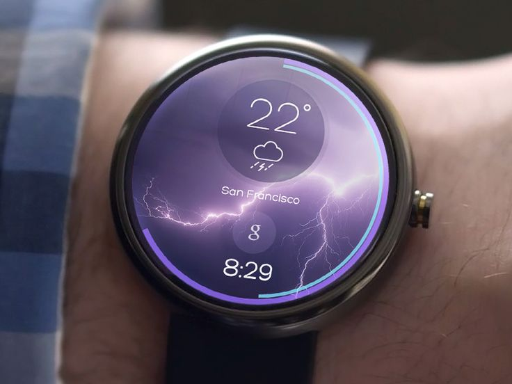 Awesome Previews of Android Wear: Weather - by Kreativa Studio | #ui #android