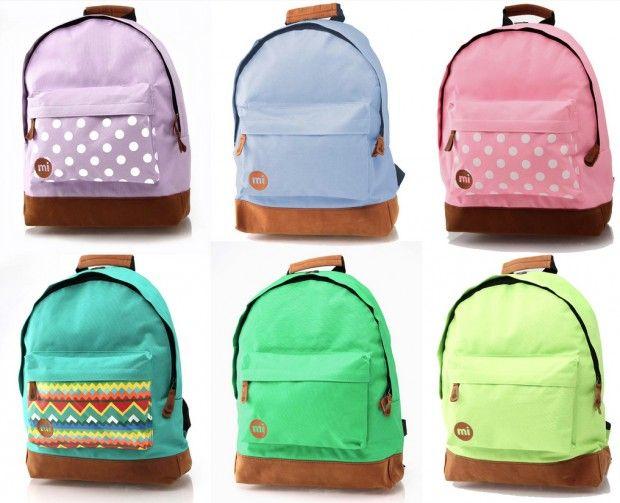 Colour splash backpacks