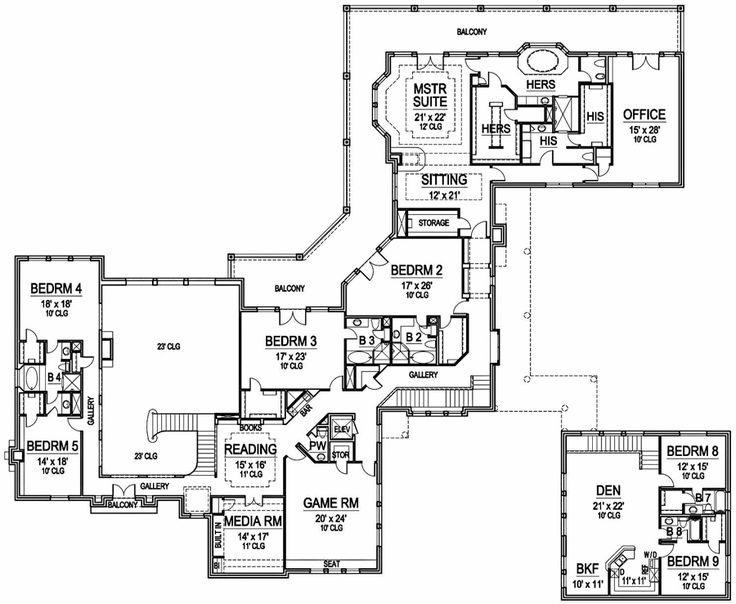 Luxury home plans master second floor for 2nd floor house plan