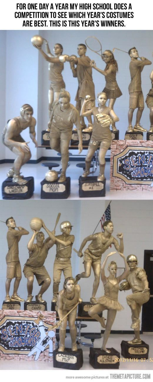 Sports Trophies Group Costumes