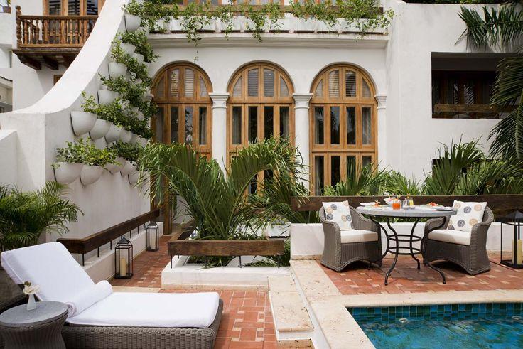 Suite de Virrey with plunge pool at Casa San Agustin (Cartagena de Indias)