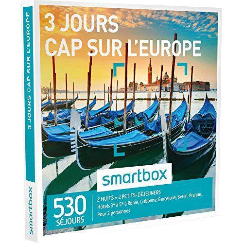 SMARTBOX – Coffret Cadeau – CAP SUR L'EUROPE – 3 JOURS – 530 séjours : hôtels de 3* à 5* à Venise, Madrid, Prague, Barcelone, Rome, Berlin:…