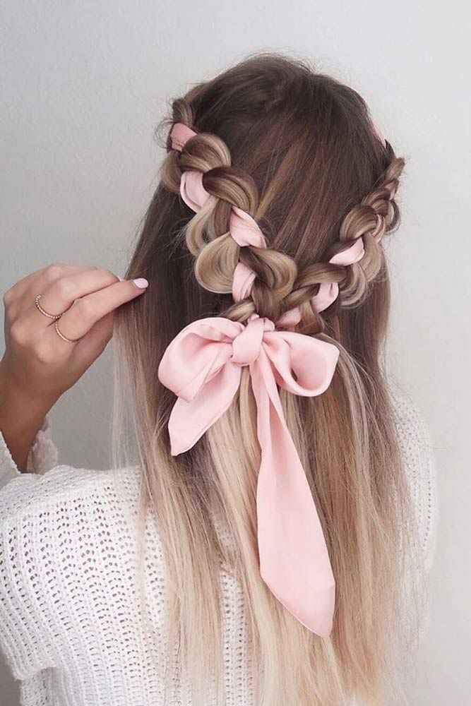 Flattering Yet Easy Long Hairstyles Glaminati Com In 2020 Ribbon Hairstyle Long Hair Styles Thick Hair Styles