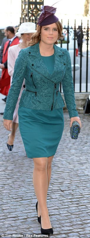 Princess Eugenie arrives at the Westminster Abbey service to commemorate the 60th Anniversary of the Coronation of Queen Elizabeth II