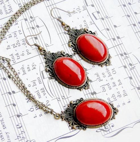 Vintage Red Jasper Set