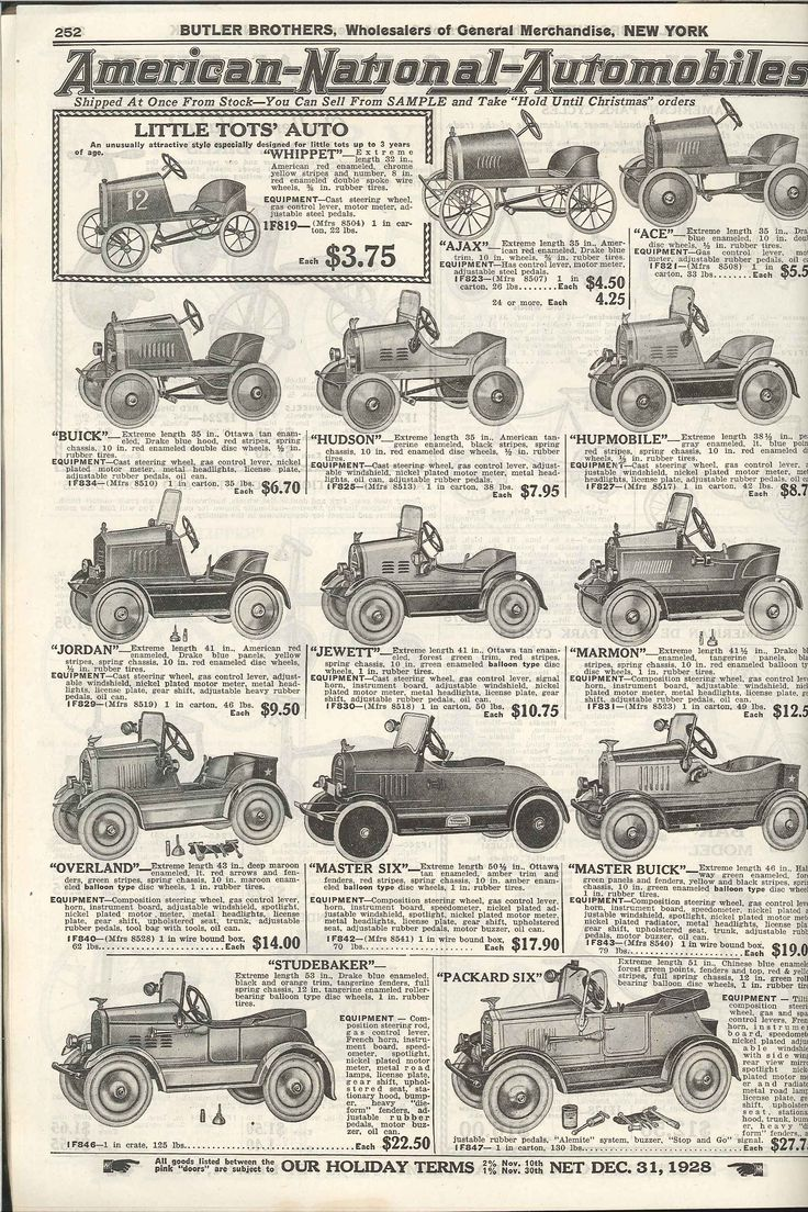 1928 Butler Bros. Catalog Pedal cars