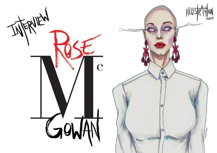 "ROSE McGOWAN   ILLUSTRASHION Magazine – issue #0.1 ""Mis.Phil.Ogyny""  WWW.ILLUSTRASHION.COM"