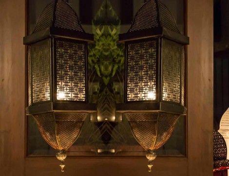 Pierced Moroccan Chandelier Lantern