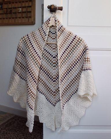 Franck live: Sjal med englevinger Hæklet sjal, crochet shawl, hekle, virka