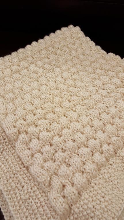 (6) Name: 'Knitting : Champagne Bubbles Blanket Pattern Knitting
