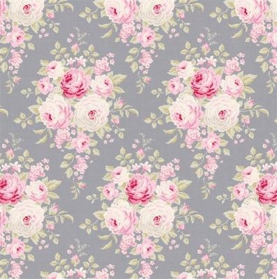 Tilda Corner Shop Fabric - Laura Bluegrey