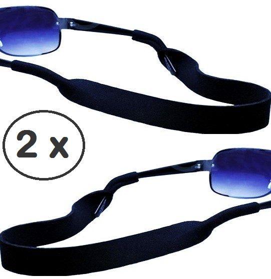 Gegen rutschende Brillen: 2 x Neopren-Sportband ca.40cm in schwarz. Das Neopren-Sportband. 2xStrapazierfähiges und elastisches Brillenband in schwarz. Angenehm zu tragen für den idealen halt. Das NEOPREN-Brillenband mit dem dehnbaren und strapazierbaren Material ist einzigartig für Sport und  Freizeitaktivitäten. Mit einer Länge von ca. 40cm ist das Neopren-Sportband besonders für den Herren geeignet.