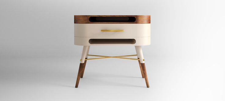 KYLKI NIGHTSTAND - The vintage-inspired of this elegant nightstand captures the essence of mid-century style. With modern lines, sensitivity and class, ideal for a any bedroom area. #linecraftcollection #kylki #nightstand #craft #furniture #midcentury #modern #homedecor #bedroom