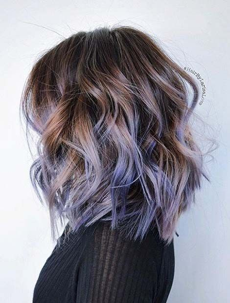 Lob Haircut with Tick Hair - Trendy Hair Color Designs for women and Girs!
