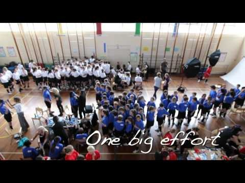 Promoting Panasonic's Flag Tag app in the run-up to the Olympics brought us to St. Thomas More Roman Catholic School, Eltham. 300 students, 20 teachers and 20 make up artists worked together to become the face of Great Britain and create one giant Union Jack. Take a look at how it turned out...