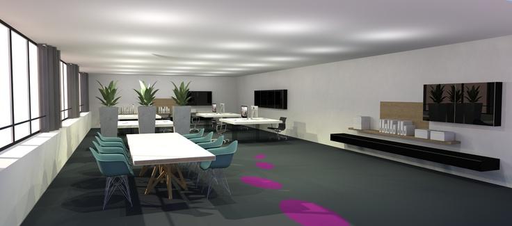 interieurontwerp kantoor Gouda. Ontworpen door DE KROON interieurvormgeving