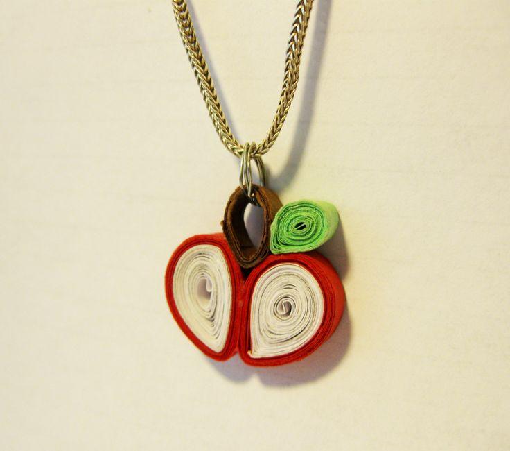 apple pendant - quilling)
