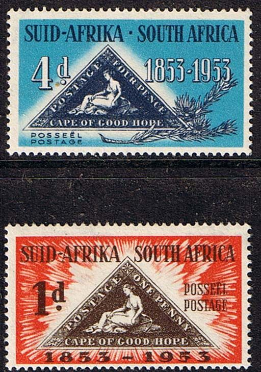 South Africa 1953 Stamp Centenary Set Fine Mint SG 144 5 Scott 198 9 Centenary…