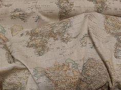 Vintage Brown World Map Atlas/globe print fabric Curtains, roman blinds, cushions- Map fabric - fabric map of the world - world fabric - brown fabric - maps fabric - fabric map - Atlas fabric - by the metre PRESTIGE FASHION, http://www.amazon.co.uk/dp/B00SJC31DO/ref=cm_sw_r_pi_awdl_uPyLvb0DXC4ZN