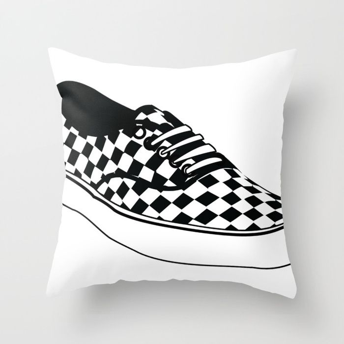 Buy Vans Throw Pillow by laurendangeloart. Worldwide shipping available at Society6.com. Just one of millions of high quality products available.