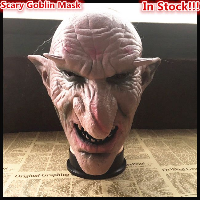 Hot Sale Men Latex Mask Goblins Big Nose Horror Mask Creepy Costume Party Cosplay Props Scary Masks for Halloween Toy in stock