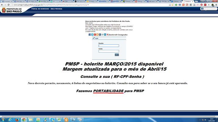 Holerite PMSP março/2015-disponível