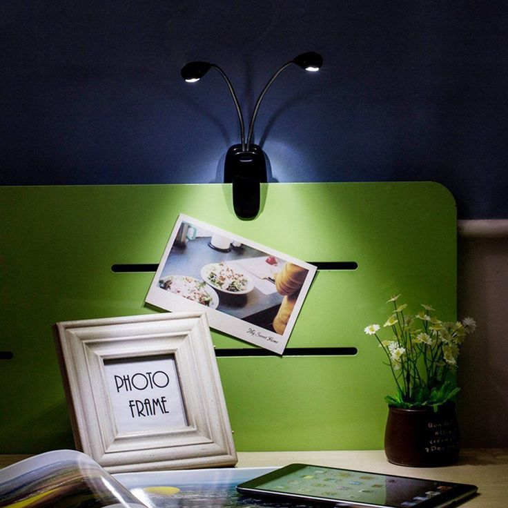 Adjustable USB Rechargeable Dual Arm LED Reading Light Clip-on Table Desk Lamp